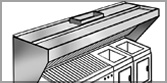 LWZ - Low Wall Back Exhaust Canopy